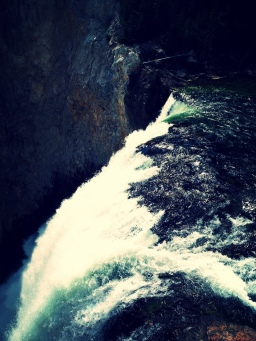 brink of the lower falls trail