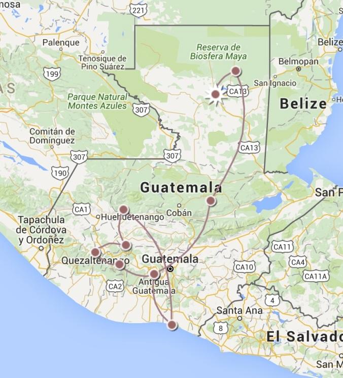 itineraire guatemala