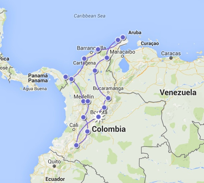 itineraire colombie