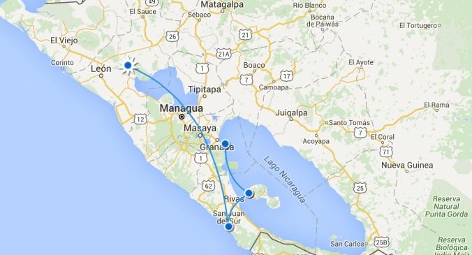 itineraire nicaragua