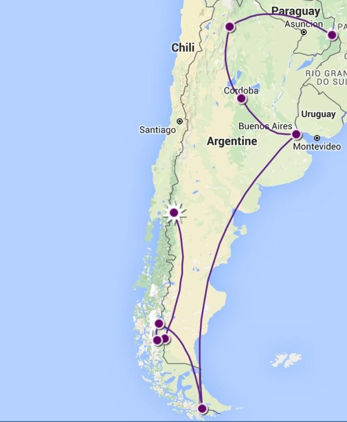 itineraire argentine